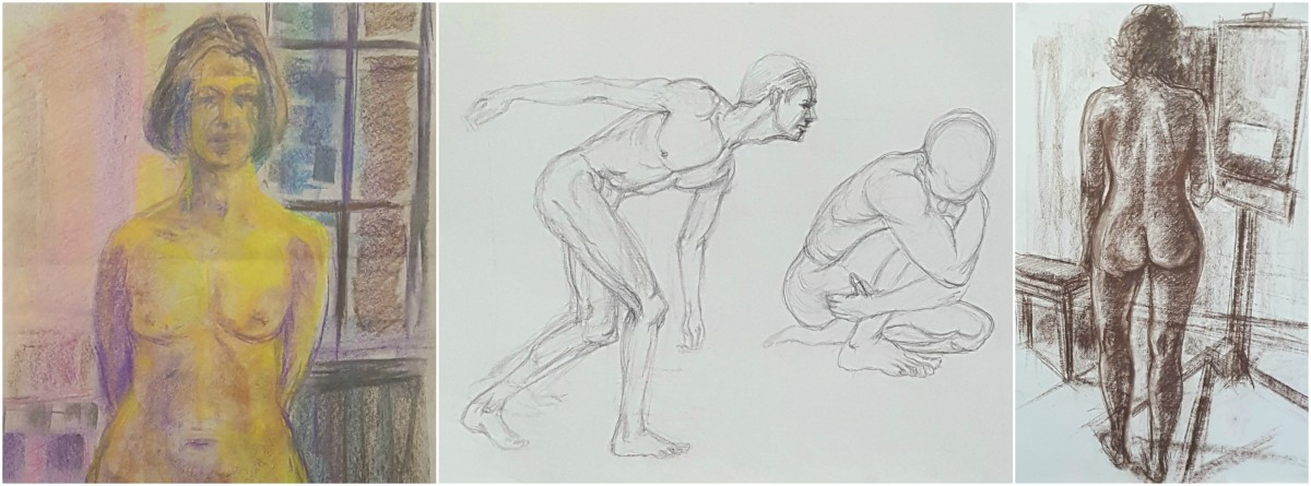 Life drawings by Terry Clarke