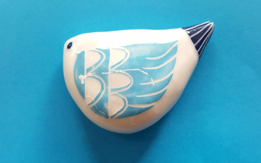 Kath Cooper Ceramics - Bird Pebble
