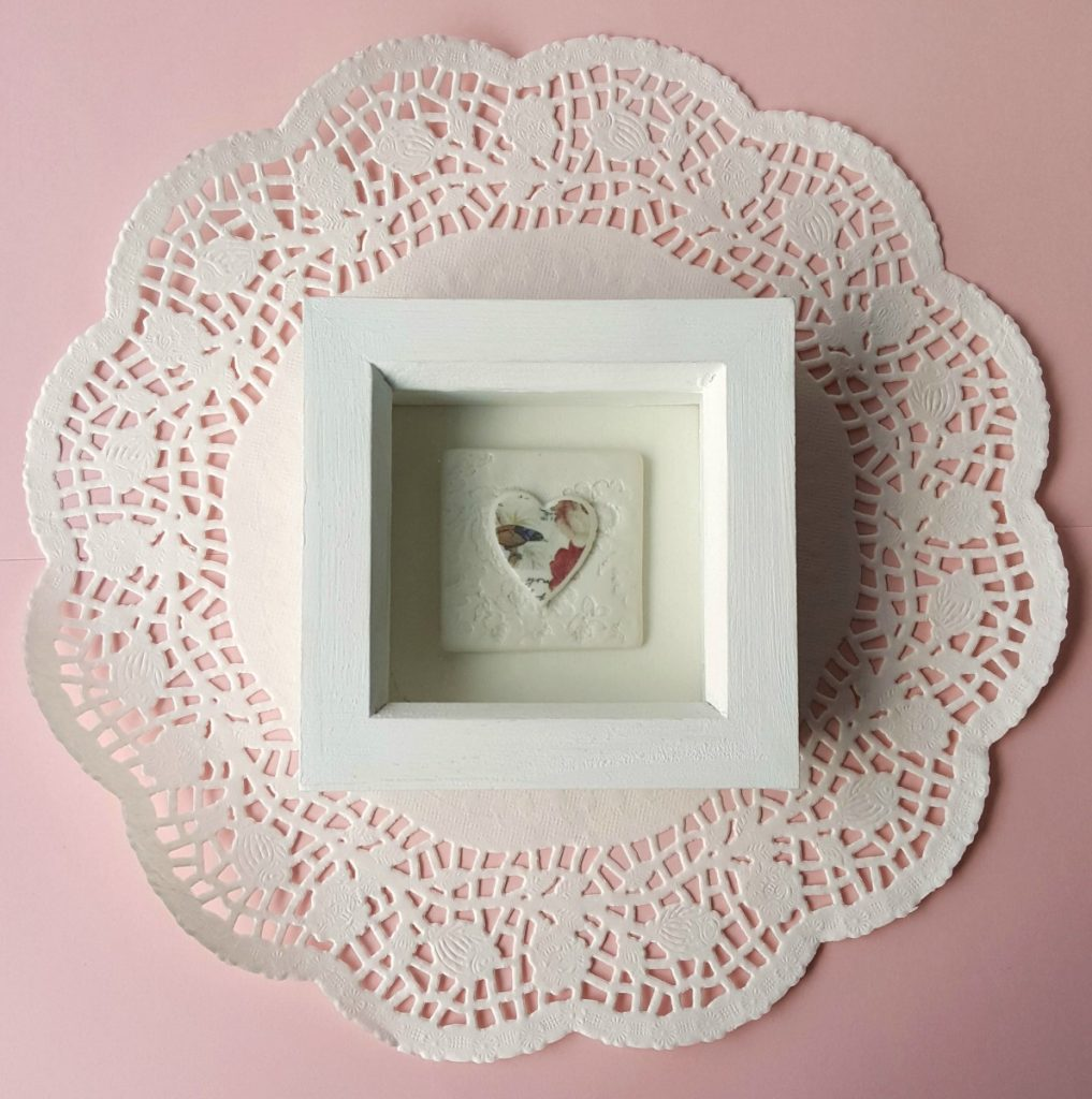 Amanda Mercer - Small Heart Tile in Frame