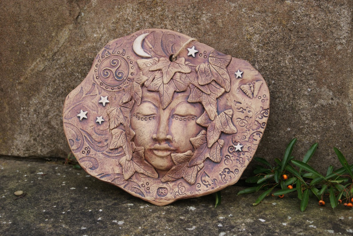 Ceramic Face Plate, Pentangle Pottery