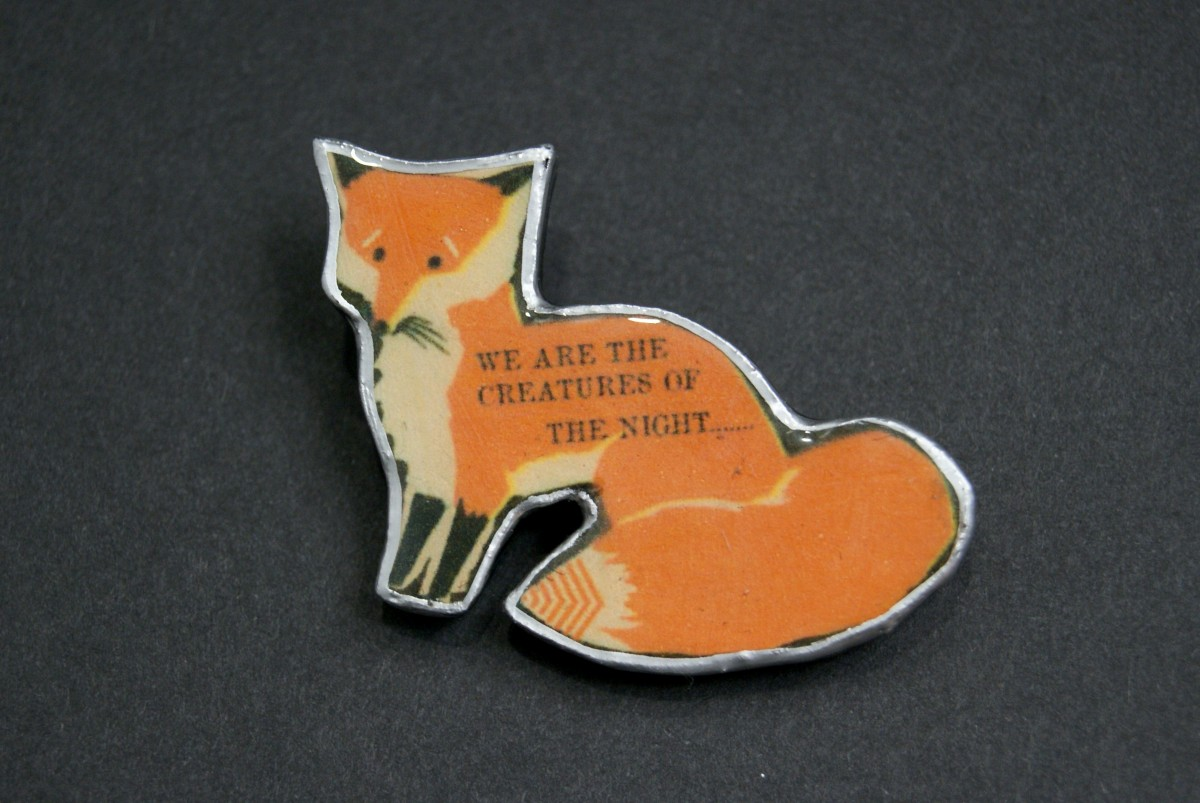 EllyMental Jewellery - Fox Brooch