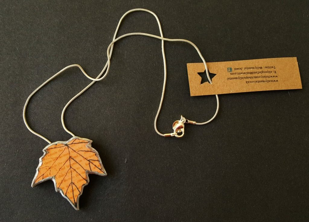 EllyMental Sycamore Leaf Necklace