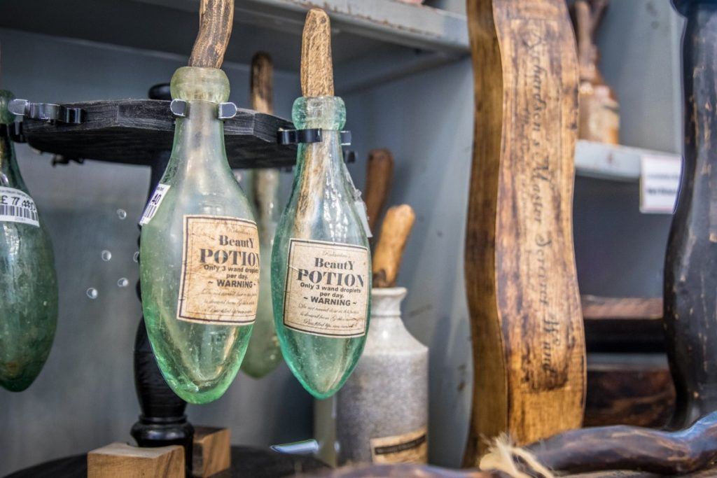 Mark Richardson's Wizard's Emporium, bottles, close up