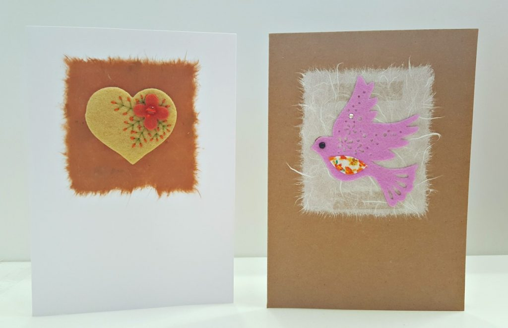 Cherry Pips Cards - Heart and Bird