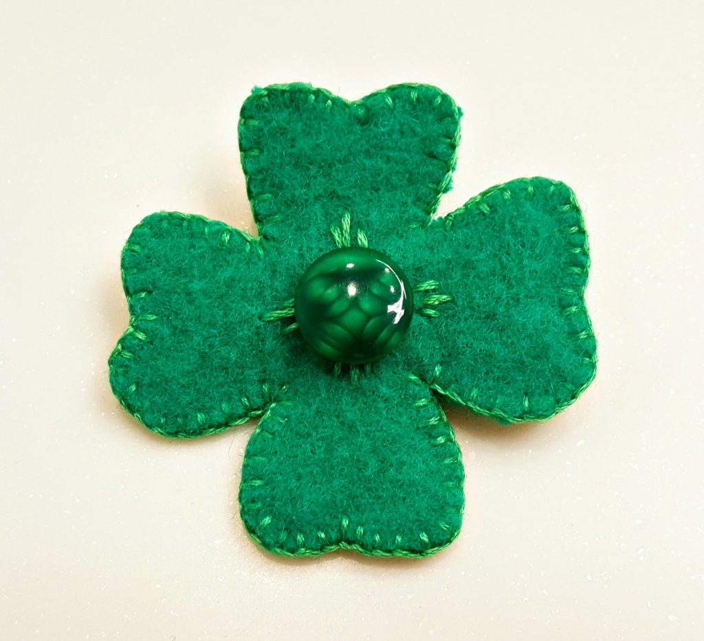 Cherry Pips, Four Leaf Clover Brooches, 20-21 Shop