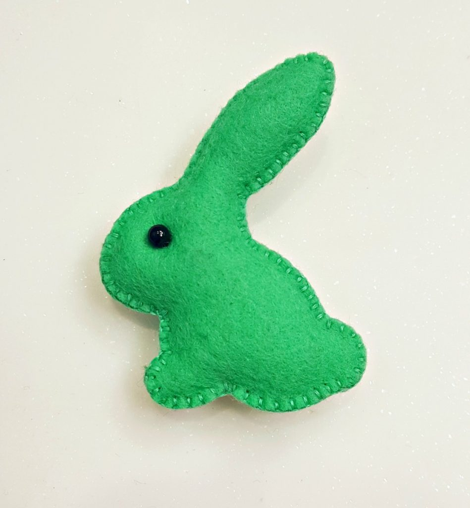 Cherry Pips, Green Rabbit Brooch, 20-21 Shop