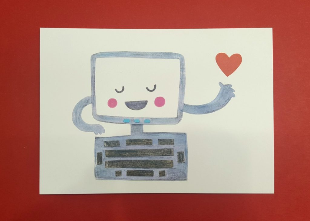 Debbie Greenaway Computer Love Card