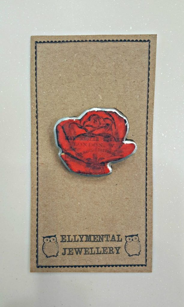 EllyMental Jewellery Rose Brooch