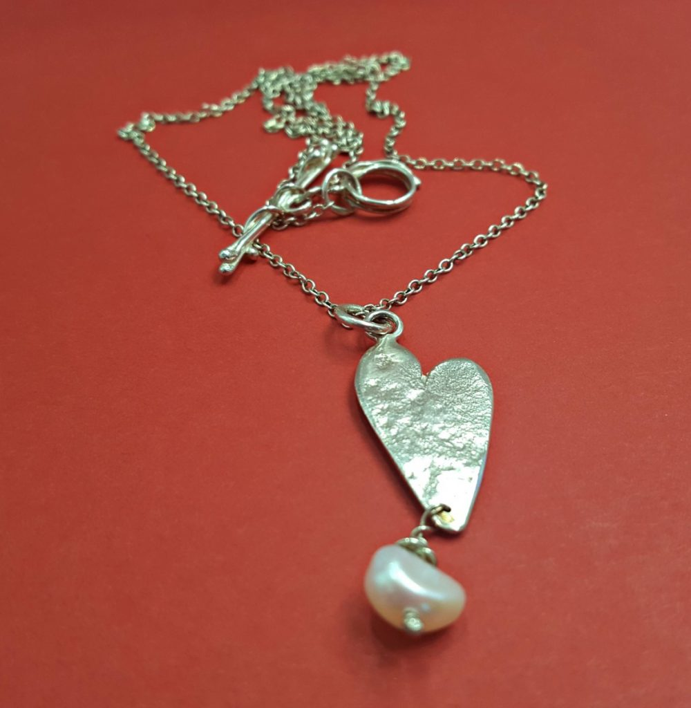 Fi Mehra Heart with Pearl Necklace