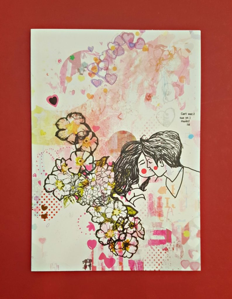 Jo Cheung Card - Couple Kissing