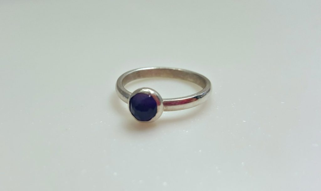Becky Pearce Ring (Silver with Purple Stone)
