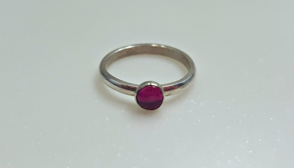 Becky Pearce Ring (Silver with Pink Stone)
