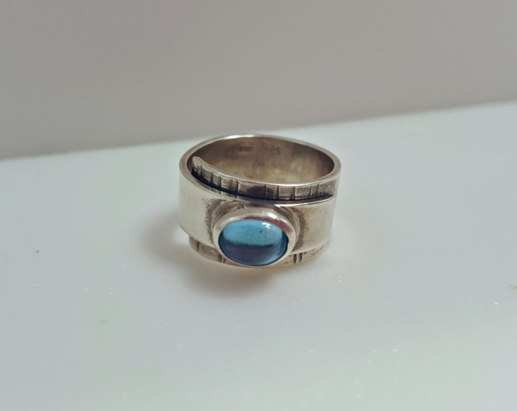 Ruth Praill Ring (Silver with Topaz)