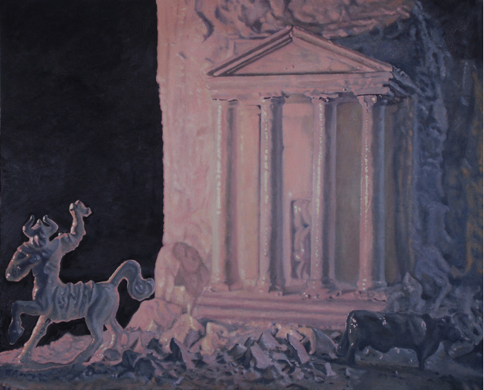 Paul Collison, Mythological landscape with centaur and roman temple
