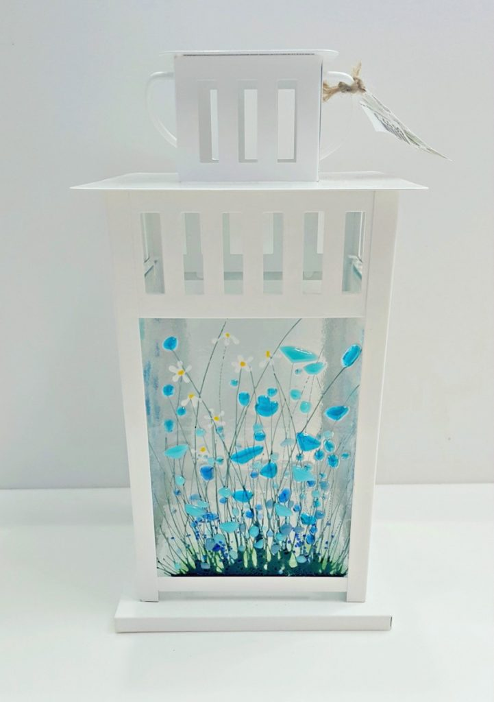 Pam Peters Designs, Blue Flower Lantern