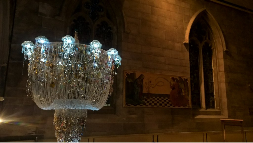 Chandelier of Lost Earrings, Sharon Campbell and Lauren Sagar, Art in the Minster