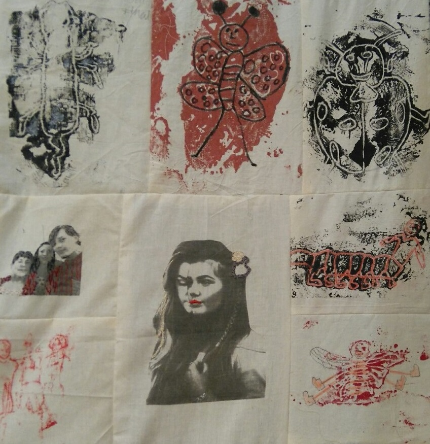 Nicky Dillerstone community printed quilt, Louise Bourgeois and Collected Women