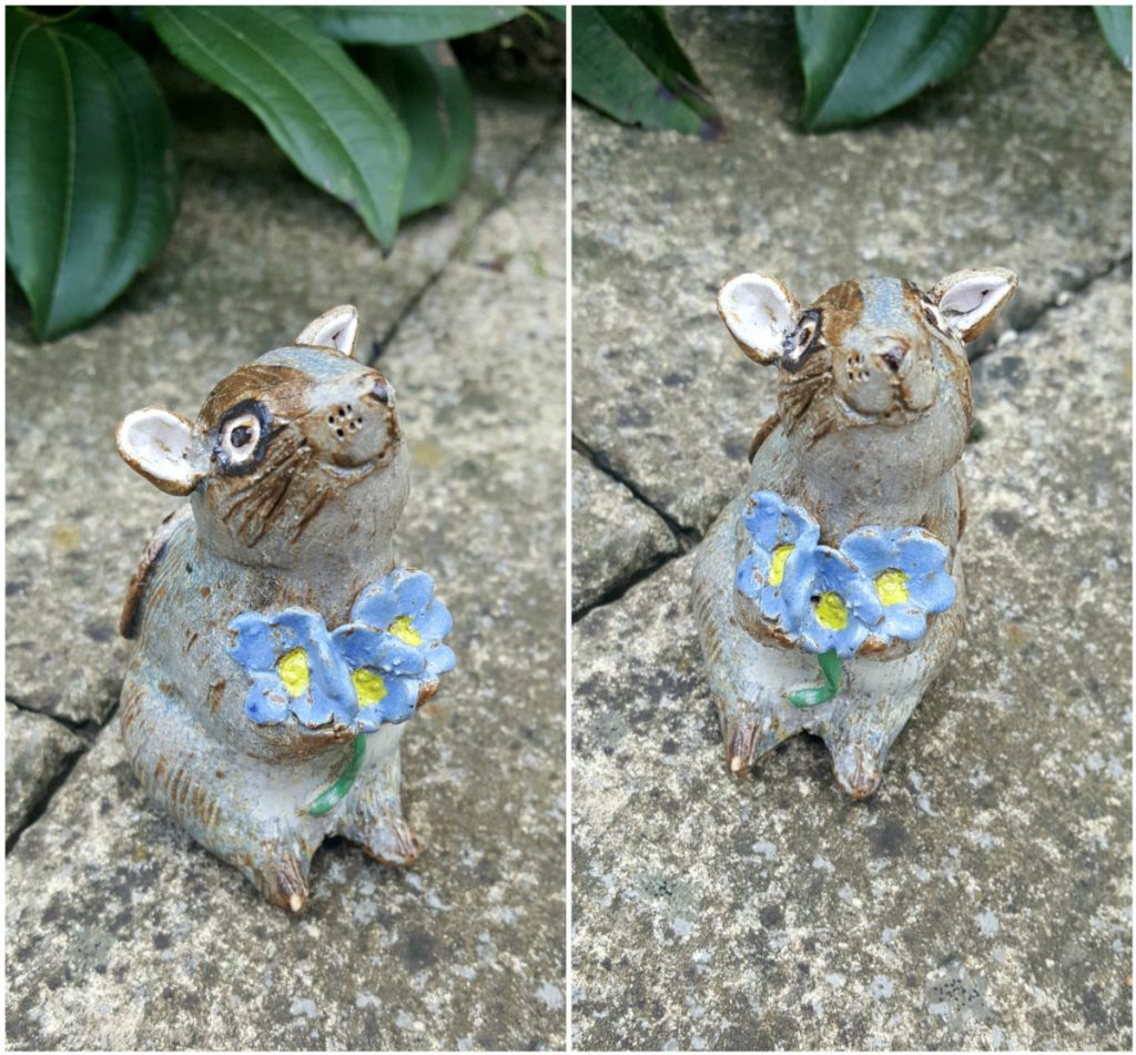 Zoo Ceramics, Mouse with Forget Me Nots, 20-21 Shop