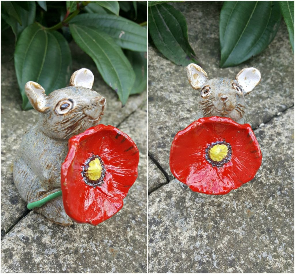 Zoo Ceramics, Mouse with Poppy, 20-21 Shop