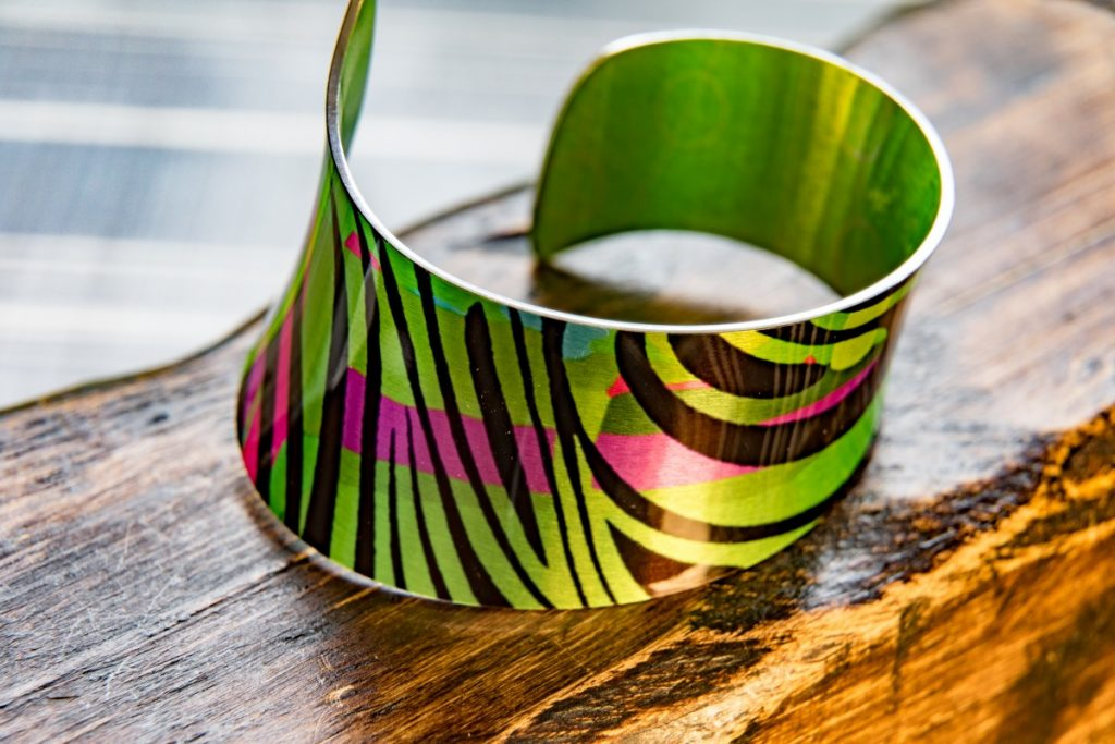 Green Bracelet/Cuff by Pixalum, 20-21 Shop