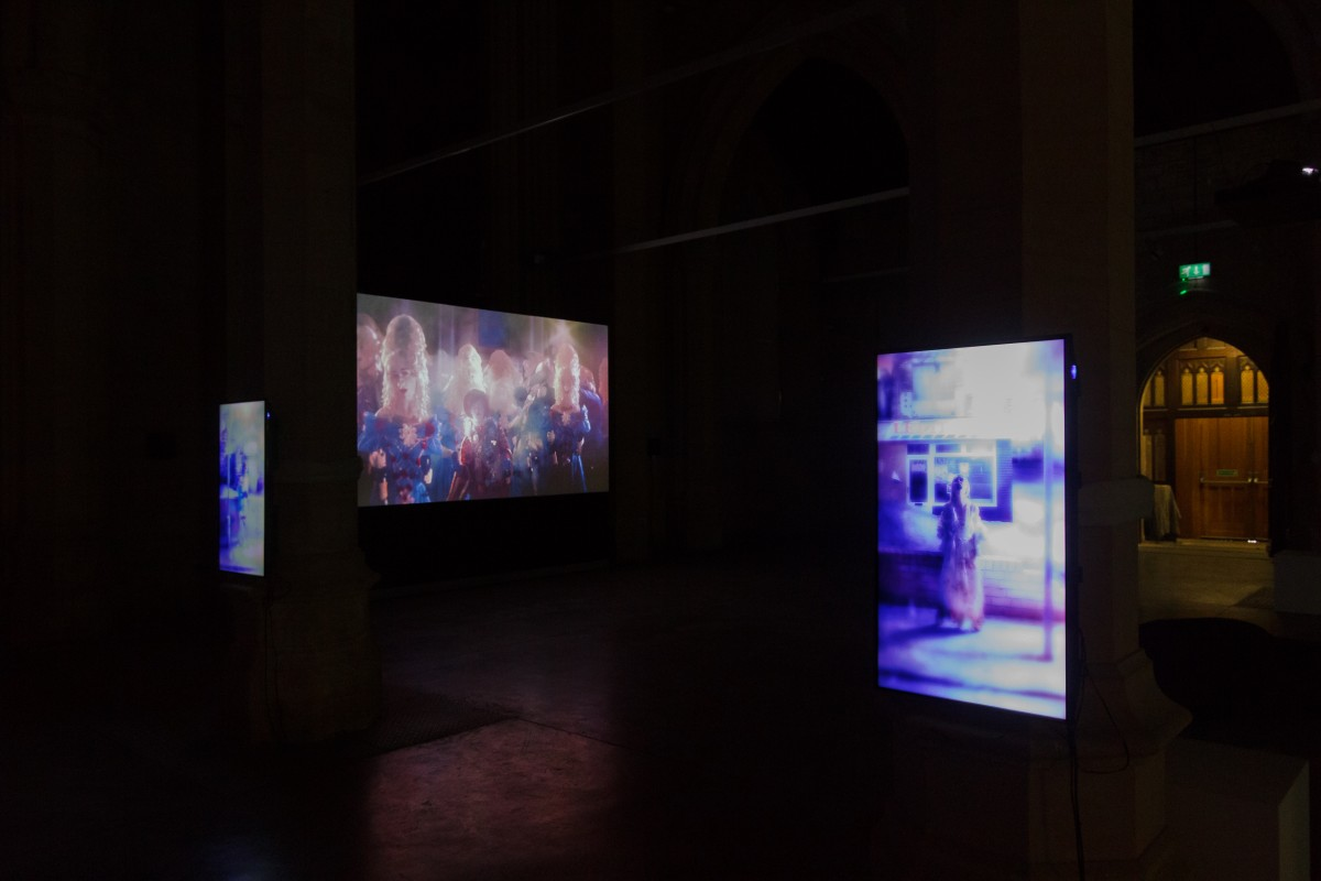 Video installations Please Sir... and Let it Go, in situ at 20-21 Visual Arts Centre