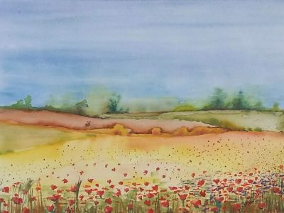 Watercolour Landscape by Diana May