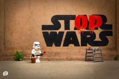 Star Wars storm trooper grafitti artist