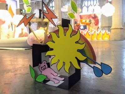 Childrens craft activity based on True to Size exhibition