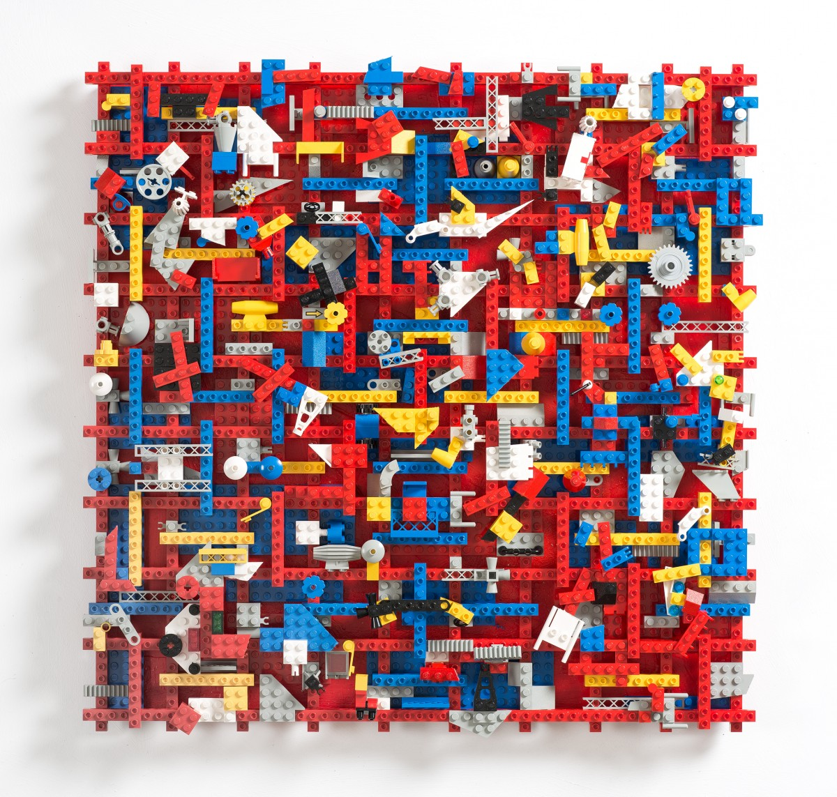 Lindy Hop Abstract LEGO sculpture by Michael Brennand-Wood