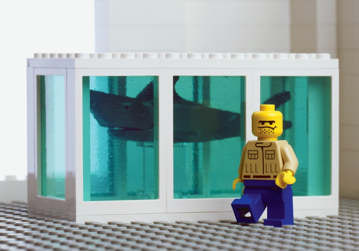 Damien Hirsts Shark Tank in LEGO by The Little Artists