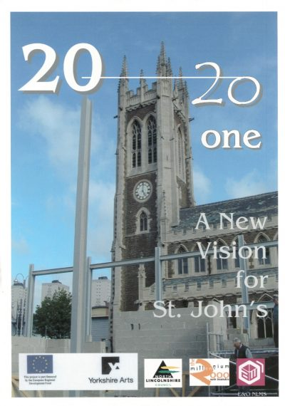 Building work converting St Johns Church into 2021 Visual Arts Centre