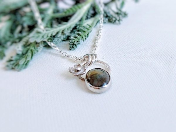 Silver and labradorite necklace by Thistledown Wishes