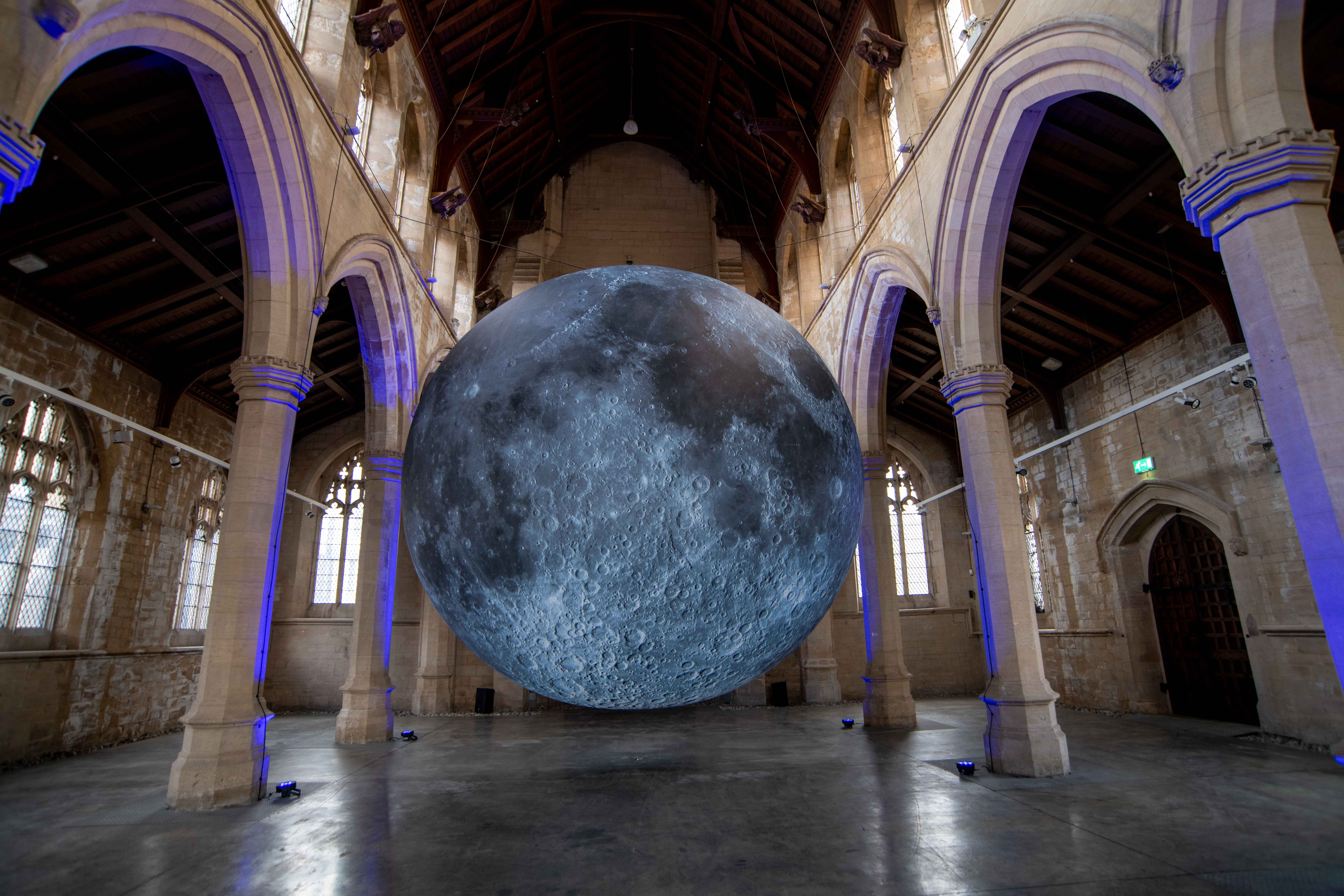 The Museum of the Moon on display at 20-21 Visual Arts Centre