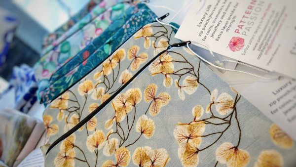 A selection of Pattern Passion silk purses with designs by Preeti Gupta