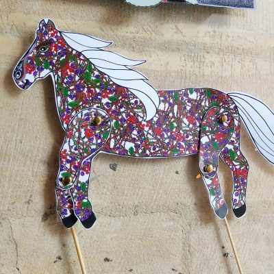 Papercraft jointed horse