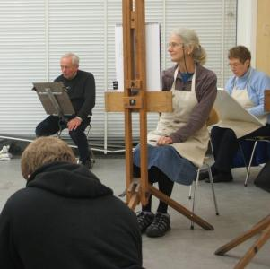 Life drawing class in progress