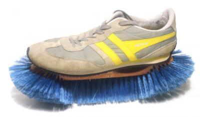 Everyday Objects by Jason Taylor. A trainer with its sole replaced with a scrubbing brush
