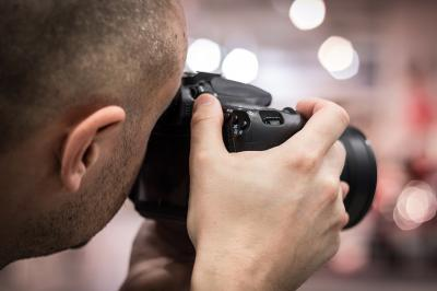 Stock photo: Man taking photograph