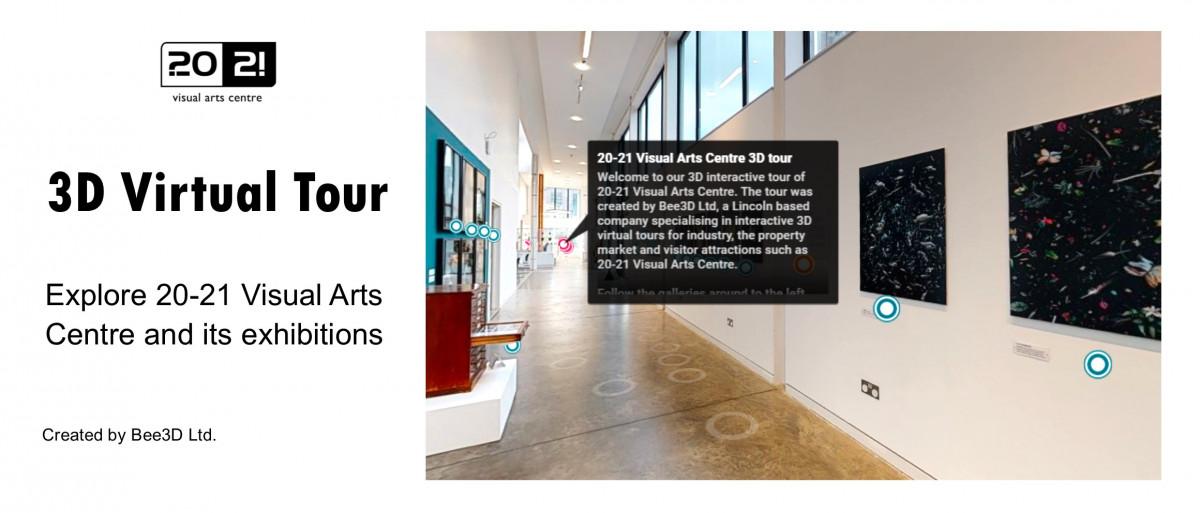 3D virtual gallery tour