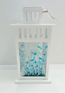 Blue Flower Lantern - Pam Peters Designs