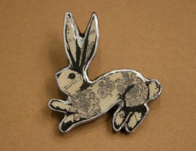 EllyMental Jewellery - Regal Rabbit Brooch